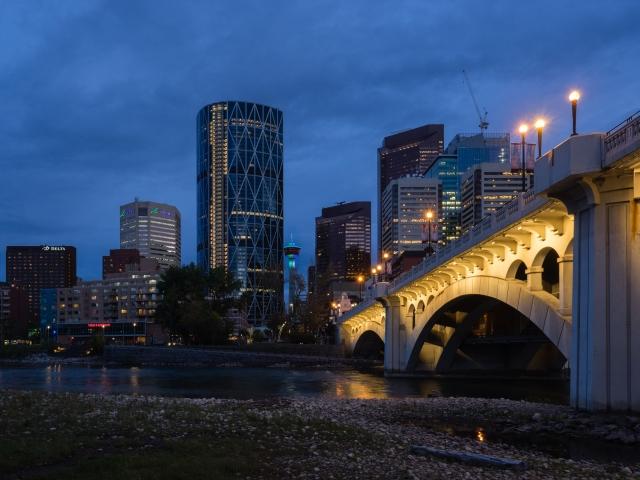 Calgary-at-night