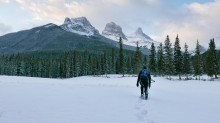 snowshoing-canmore