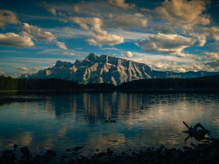 mount-rundle-two-jack-lake