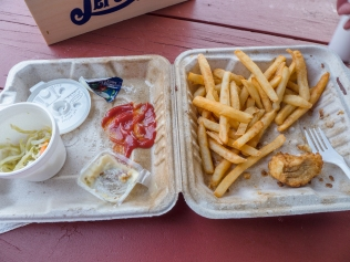 remains-of-tips-and-chips-johns-lunch