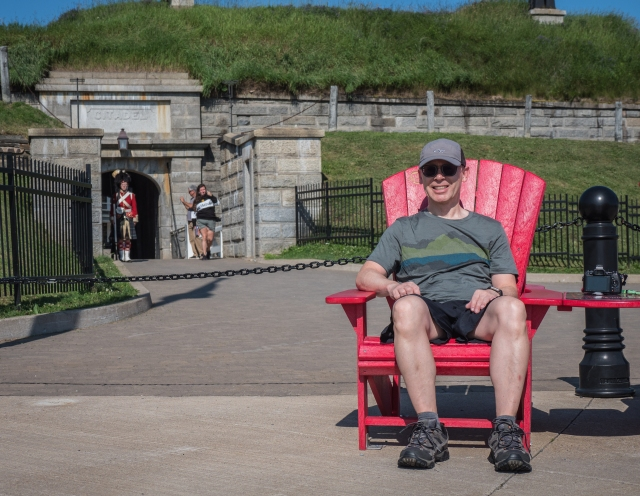 Parks Canada red chairs at Halifax Citadel
