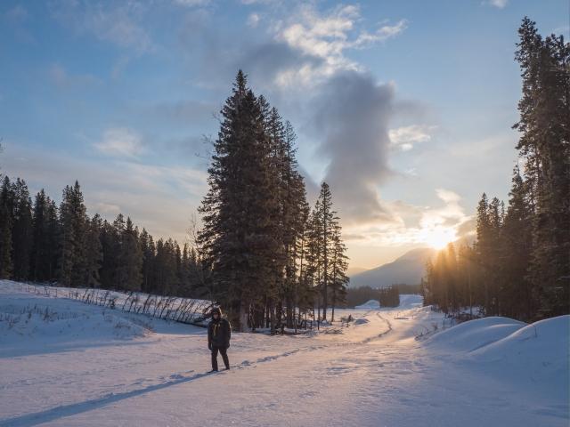 man-walking-in-fresh-snow